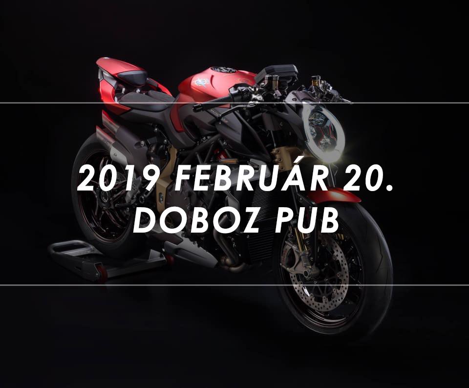 Brutale 1000 Serie Oro bemutató 2019 Február 20 Doboz
